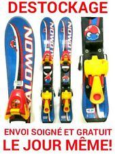 """ski enfant SALOMON """"BABY BLUE"""" tailles:67cm+fixations"""