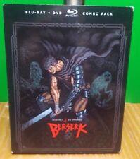 Berserk Season 1 Blu-ray Used dvd combo cib w/ slipcover guts 12 episodes rare