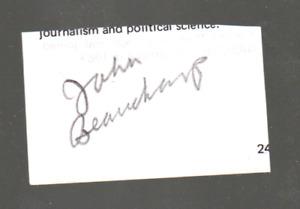 NASCAR Johnny Beauchamp authentic autograph NO RESERVE