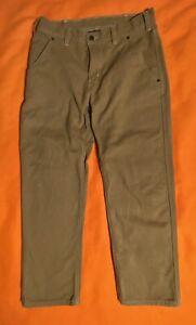 Men's Patagonia Hemp Canvas Pants Sz 32x29 Carpenter Work Brown