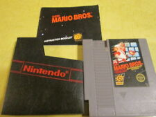 NINTENDO GAME MARIO BROS  WITH INSTRUCTION BOOKLET AND DUST COVER