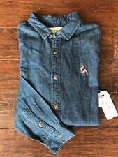 MODERN AMUSEMENT DENIM PIN UP GIRL SHIRT LS MENS SIZE SMALL NEW 400058310784