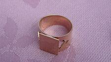 VINTAGE 14K 583 ROSE GOLD WIDE RING, CIRCA 1977 LENINGRAD, USSR