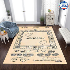 Monopoly Board Games Area Rug Living Room Geeky Carpet US Floor Decor, Best Gift