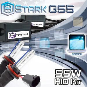 Stark 55W Micro HID Fog Light Slim Xenon Kit - H11 H9 H8 8K 8000K Ice Blue (S)