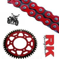 Honda CB125 R Chain and Sprocket Kit Red RK Racing ZF Red Rear Sprocket 2018-