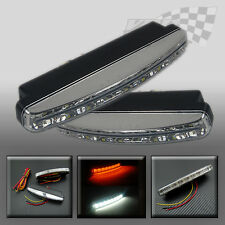 Lights daytime running DRL LED white + yellow indicator front grill universal