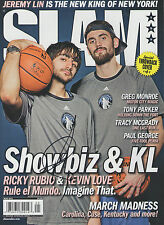 Basketball-other Ricky Rubio Minnesota Timberwolves Autografato Slam Rivista R2 Coa Gfa