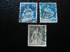 SUISSE - timbre - yvert et tellier n° 166 164 164a obl (A7) stamp switzerland