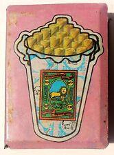 Vintage Sher Bidi Brand Tin Match Box Holder Made In India #go359