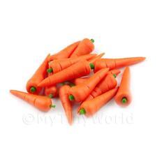 12 Miniatura Para Casa De Muñecas Hechas A Mano Grandes Zanahorias