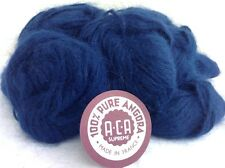 100% FRENCH RABBIT HAIR ANGORA A.C.A. 10 Gr 3 Ply Ball NAVY BLUE - TOP QUALITY!