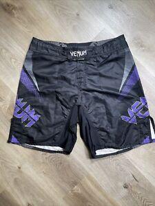 Mens Venum Fighting Shorts Black Purple Size US 46 NoGi Vining Brazil