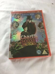Charlie and the Chocolate Factory DVD (2005) Johnny Depp, Burton (DIR) cert PG