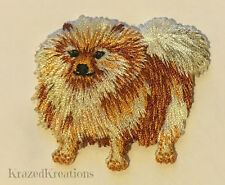 Pomeranian Embroidered Iron-On Applique Patch - NEW!