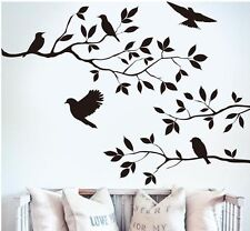 BLACK BIRD TREE BRANCH Wall Stickers Decal Removable Home Decor Mural Vinyl