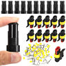 10 Sets 2Pin Waterproof Car ATV Electrical Wire Connector Plug Cable 12V