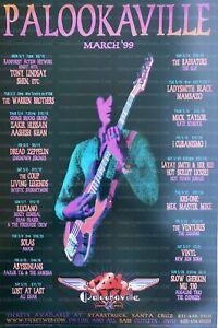 Mick Taylor Concert Poster Palookaville Santa Cruz 1999 MHP-61