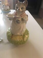 Vintage Schmid Mrs Ribby Cat Beatrix Potter Music Box