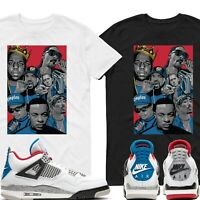 Rap Air Jordan 4 What The Match T Shirt Adult and Youth