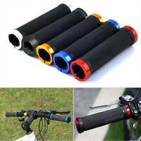 Motorcycle Hand Grips Road Mountain Bike Cycling Lock-On Handlebar Bar Bicycle
