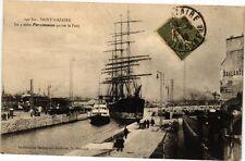 CPA Saint Nazaire Le 4 mats Persimmon quitte le Port (250719)