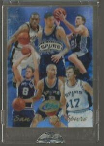 2004-05 eTopps San Antonio Spurs Team Tim Duncan Manu Ginobili Parker /950 #16