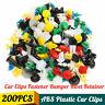 200X Plastic Car Door Trim Clip Bumper Rivet Screws Body Panel Push Fastener  @