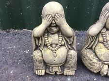 3 x LATEX ONLY MOULDS WISE BUDDHAS 25CM TALL ORNAMENT MOULDS