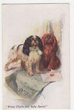 Prince Charlie & Ruby Spaniel, Vivian Mansell Dog Art Postcard, B268