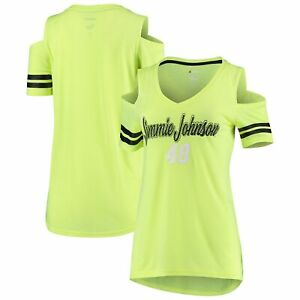 Jimmie Johnson G-III 4Her by Carl Banks Women's Extra Inning Cold Shoulder