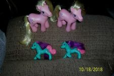 HASBRO MY LITTLE PONY LOT TWO CUPCAKE+ TWO SMALL 1990 PONY'S VERY NICE