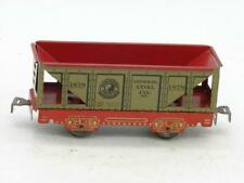 """Marx 6"""" Tin Litho Northern Pacific General Coal Hopper Red Litho Frame 1678 Nice"""