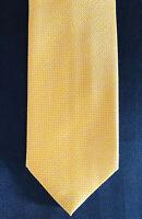 New Brioni Yellow w Micro White Weave Mens Silk Necktie Tie 3.5 X 59
