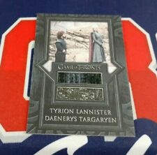2020 The Complete Game of Thrones SD2 Tyrion Daenerys Dual Costume Card