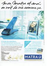 Publicité Advertising  078  1993  téléphone sans fil Look Matra communication