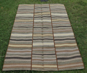 Vintage Handmade Hand-Woven Tribal Turkish Traditional Patchwork Rug 5x8 feet