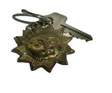 Sun Brass Plated Key Ring