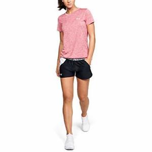 Under Armour Women's Play Up 2.0 Shorts , Black (042)/White , Medium