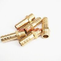 LOT 5 Hose Barb 10mm x M12x1.25 Metric Male Brass coupler Splicer Pipe fitting