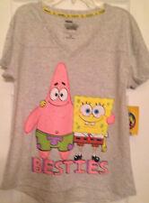 Shirt womens size S(4-6) new 60% cotton 40% polyester Spongebob Squarepants grey
