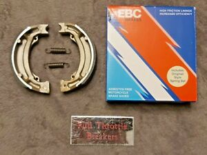 fits: SUZUKI TS 125 ERZ 1979-1984 REAR BRAKE SHOES NEW WITH SPRINGS  #S604 EBC#