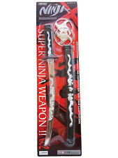 Ninja Assassin Warrior Sword Set Kung Fu Fighter Fancy Dress Accessories New