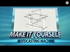 Plans - DIY Rotocaster Rotocasting Machine - Cast Resin, Plaster, Latex, Etc...