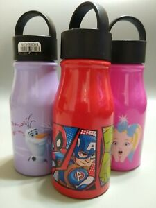 Lot of Three 13.5 fl oz Aluminum Water Bottles, With Cartoon