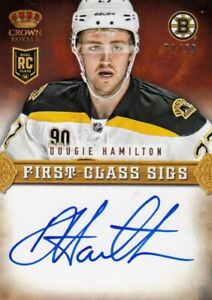 DOUGIE HAMILTON NO:FC-DH ROOKIE FIRST-CLASS SIGS 71/99 CROWN ROYALE  2013-14