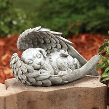 Angel Wings Sleeping Dog Cat Memorial Statue Resin Pet 1 pcs New