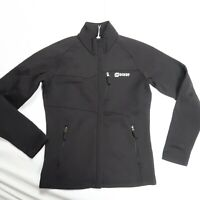 Orage Women's Size Small Full Zip Jacket Black Fleece Lined Soft Shell Mid Layer