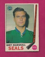 1969-70 OPC #  80 SEALS BERT MARSHALL GOOD CARD (INV#3256)