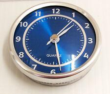 "Brand New Round 2 1/2"" Pop -In (Fit Up) Blue/Silver Quartz Clock Movement15682B"